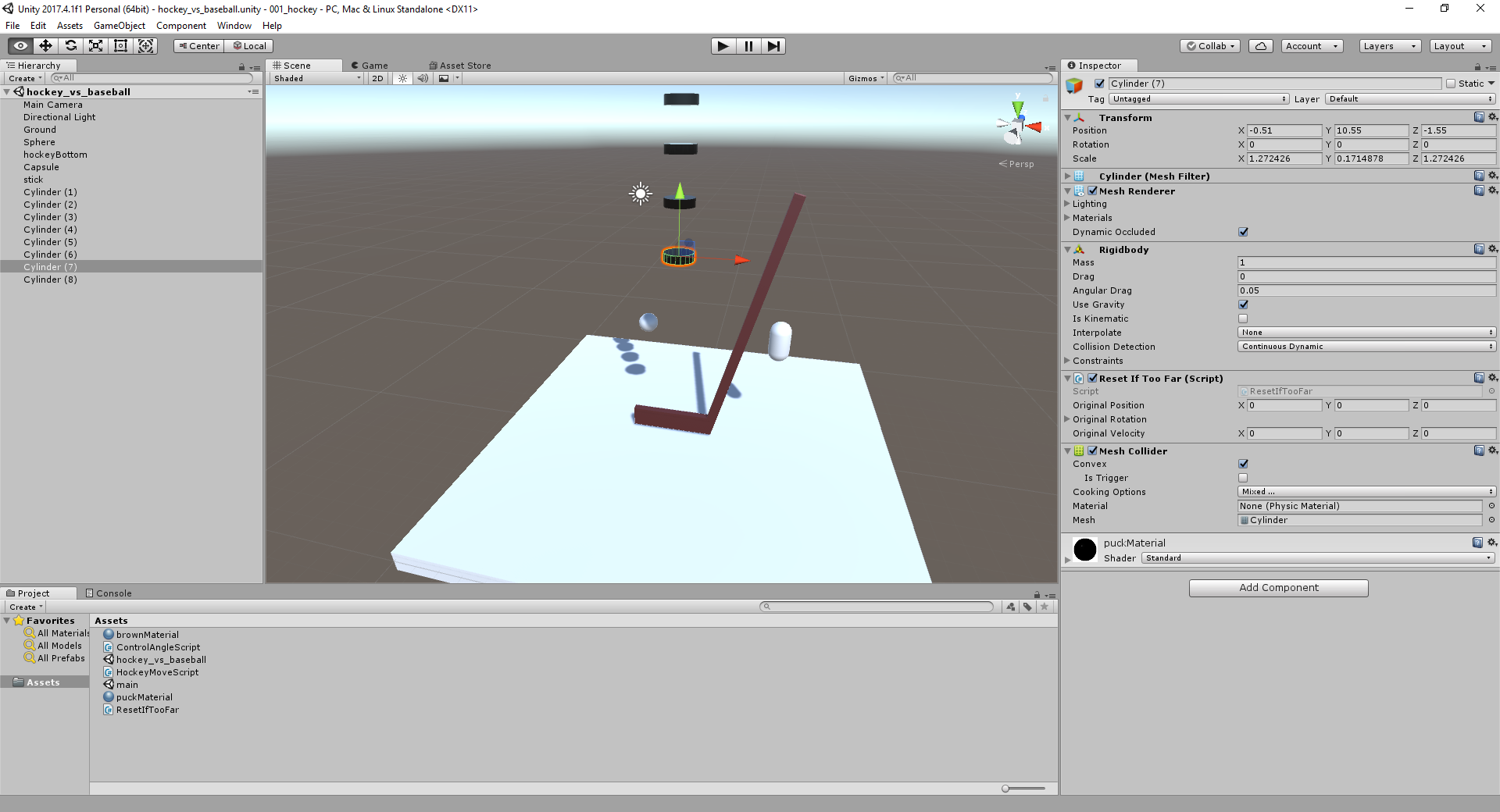 Unity toy projects